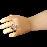 "Vintage Madame Alexander Cissy Doll Jewelry Rhinestone Pink Ice ""Diamond"" Ring Bride"