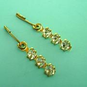 Vintage Doll Jewelry Rhinestone Earrings Madame Alexander Cissy, Elise, Miss Revlon