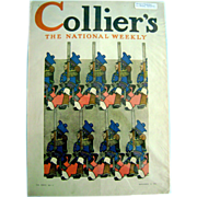 SOLD Vintage Antique Maxfield Parrish ORIGINAL Collier's Magazine Cover November 1912