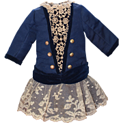 Beautiful Blue French Cut Doll Dress