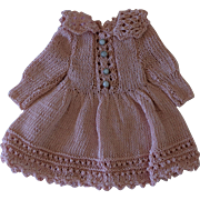 "Sweet Crochetted Doll Dress for around an 8"" Doll"