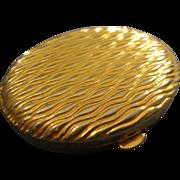 SALE VINTAGE Estee Lauder Gold tone compact with etched design