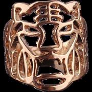 SALE VINTAGE 14k Gold Filled open design Tiger Ring size 7