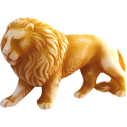 SALE VINTAGE Early plastic/ celluloid thick lion pin/brooch