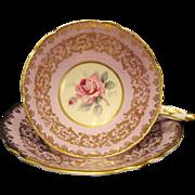 Royal Stafford England Bone China Floral Teacup Saucer