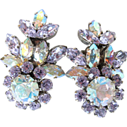 Pastel Schoffel Floral Aurora Borealis Earrings Large