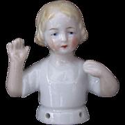 German Deco Half Doll Hands Away Book Piece