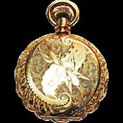 14k Yellow Gold Period Elgin Timepiece @ circa 1890
