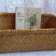 REDUCED Vintage European Wicker Storage Basket ~ great display piece!