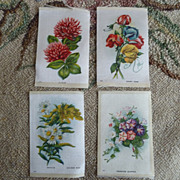 REDUCED LOT Early 1900 Floral Cigarette Silk Litho Prints ~ Mixed