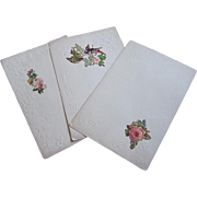 1890's Victorian Stationary Paper ~ Die cut Rose ~ unused for letter writing