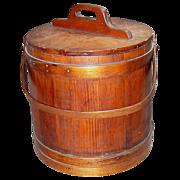 SALE Antique Firkin