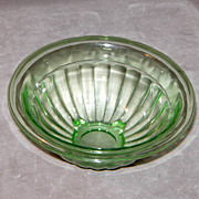 SOLD Anchor Hocking 6 ½ Inch Green Depression glass Mixing Bowl