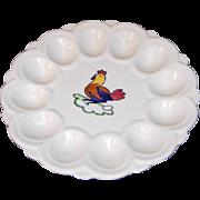 Blue Ridge Deviled Egg Dish in Peasant Village Pattern