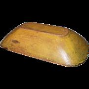 19th Century Original Mustard Painted Trencher