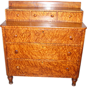 SOLD Early 19th Century Birdseye & Tiger Maple Chest of Drawers