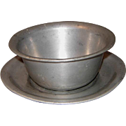 Alden Pewter Sauce Bowl w/Underplate
