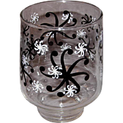 "Vintage Black & White ""Snowflake"" Beverage Glasses"