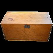Antique Small Pine Blanket Box