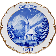 1973 Dresden Limited Edition Christmas Plate
