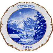 1974 Dresden Limited Edition Christmas Plate