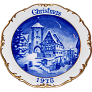 1975 Dresden Limited Edition Christmas Plate