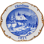 1977 Dresden Limited Edition Christmas Plate