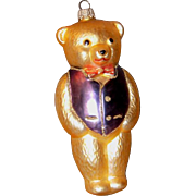 SALE German Made KREBS Glass Bear Ornament