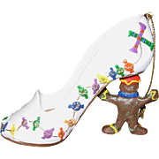 Gingerbread Man High-Heeled Christmas Shoe Ornament