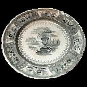 SALE Staffordshire Transfer-ware Plate Canova pattern