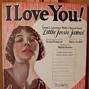 I Love You   - 1923