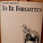To Be Forgotten – 1928