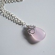Baby pink Chalcedony Pendant necklace