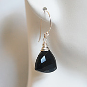 SOLD Black Spinal Dangle Drop Earrings- Mother's Day