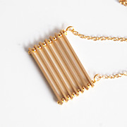 Bar Necklace- gold filled Necklace With Gold Plated Bar- Modern Necklace- Wedding Necklace- Br