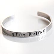 Custom Hand stamped Cuff Aluminum Bracelet- Men's Bracelet- Hand Stamped Bracelet-Personalized