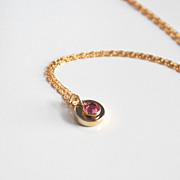 Pink Swarovski Channel Drop Pendant necklace- Wedding Accessories-- Bridesmaids Necklace-Bridal Jewelry -Valentine's Gift,Valentine's Day