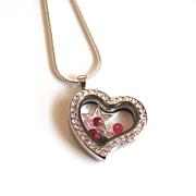 Floating Charm Locket- Memory Glass Locket- Mother's Day Locket- Mother's Day Necklace- Floating Charm Necklace- Floating Locket