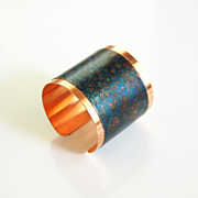 Brass Cuff Bracelet --Solid Brass Bracelet with patina Design - Women's Bracelet- Cuff Bracele
