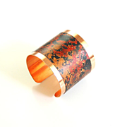 Solid Copper Cuff Bracelet --Solid Copper Bracelet with patina Design - Women's Bracelet- Cuff
