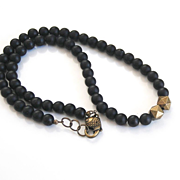Men's Necklace-Men's Black Onyx Necklace-Beaded Necklace-Men's Jewelry- Unisex Jewelry- Unisex