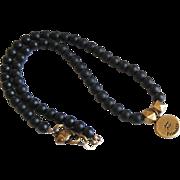Zodiac Necklace- Aquarius Zodiac Necklace--Horoscope Necklace- Beaded Necklace- Unisex Necklac