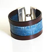 Men's Leather Cuff Bracelet -Men's Bracelet - Leather Cuff Bracelet- Unisex Bracelet- Cuff Bra