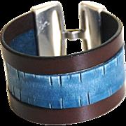 Men's Leather Cuff Bracelet -Men's Bracelet - Leather Cuff Bracelet- Unisex Bracelet- Cuff ...