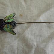 SALE PENDING Victorian Hatpin Cicada