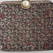 Early Evening Bag With Pearls and Metal Thread