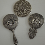 Three Vintage Pocket Mirrors