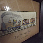 "Stevengraph ""The Present Time""  Railroad Silk"
