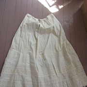 SOLD Victorian Linen Petticoat