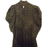 Beaded Civil War Mourning Dress